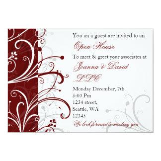 "elegant red Corporate party Invitation 5"" X 7"" Invitation Card"