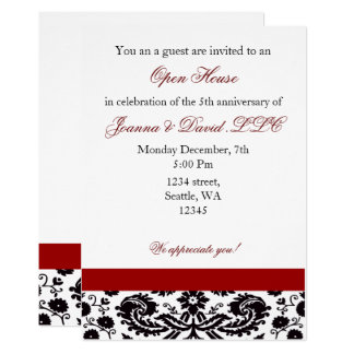Elegant red Corporate party Invitation