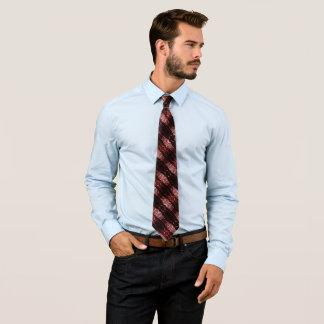 Elegant Red Dragon Silk Woven Tie