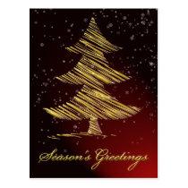 elegant red festive Christmas Greeting PostCards