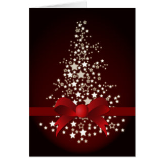 elegant red festive Christmas Greeting PostCards Greeting Card