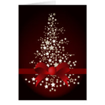 elegant red festive Corporate Christmas Cards