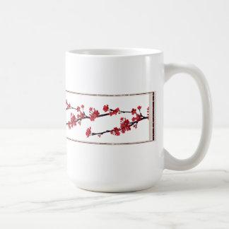 Elegant Red Floral Coffee Mug