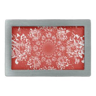 Elegant  Red Floral Dahlia Flower Pattern Belt Buckle