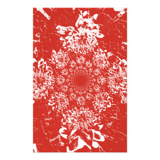Elegant  Red Floral Dahlia Flower Pattern Stationery