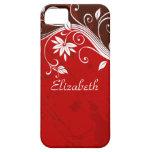 Elegant Red Floral iPhone 5 Cases