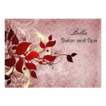 elegant red flourish Business Thank You Cards