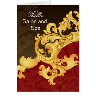 elegant red flourish Business Thank You Cards