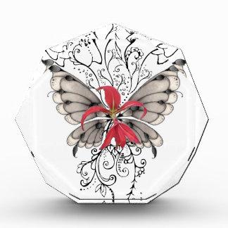 Elegant Red Flower Feur-de-Lis Angel Acrylic Award