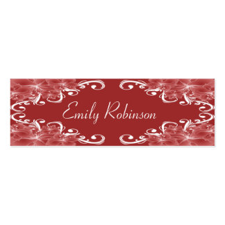 Elegant Red Flowers Business Card