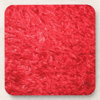 Elegant Red Fur Drink Coaster