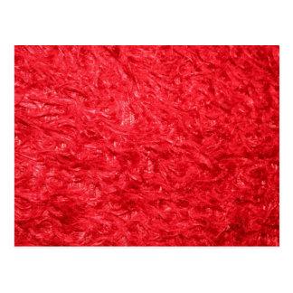 Elegant Red Fur Postcard
