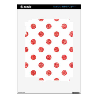 Elegant Red Glitter Polka Dots Pattern iPad 3 Decals