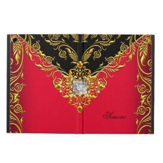 Elegant Red Gold Elite Elegant Gold Black iPad Air Case