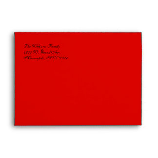 Elegant Red & Gold Holiday Envelope