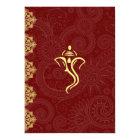 Elegant Red & Gold Vinayaka Wedding Design Card
