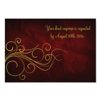 Elegant Red Gold Wedding Card