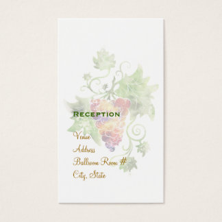 Elegant Red Grapes Watercolor Reception Cards