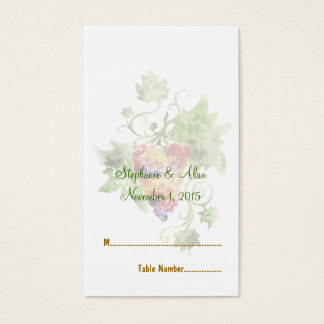 Elegant Red Grapes Watercolor Wedding Place Cards