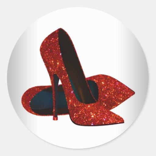 elegant red high heel shoe stickers zazzle. Black Bedroom Furniture Sets. Home Design Ideas