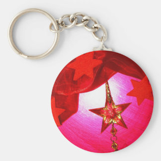 Elegant Red Holiday Decorations Key Chains