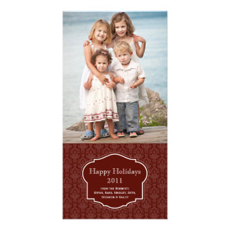 Elegant  Red Holiday Photo card