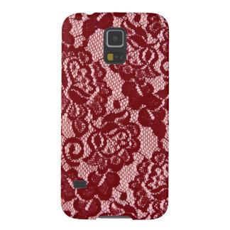 Elegant Red Lace Pattern. Galaxy S5 Case