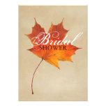 Elegant Red Maple Leaves Fall bridal shower Invites