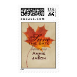 Elegant Red Maple Leaves Fall Wedding Stamp