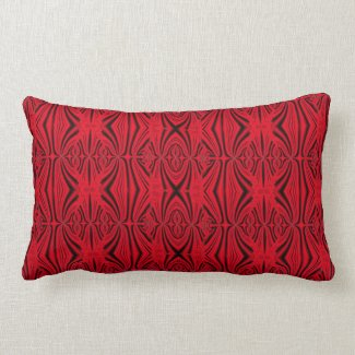 elegant red pattern throw pillow