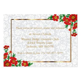 Elegant Red Poppy Flowers - Wedding Large Business Card