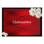 Elegant Red Quinceanera  Invitatio / Sweet Fifteen Custom Announcement