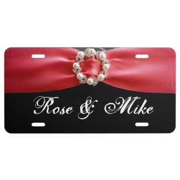 arcueid Elegant Red ribbon Pearl License Plate