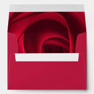 Elegant Red Rose Design Valentine's Day Envelopes