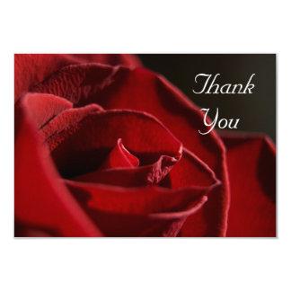 Elegant Red Rose Flat Thank You Notes Card