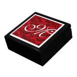 Elegant red rose floral flower trinket boxes