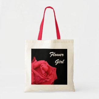 Elegant Red Rose Flower Girl Gift Bag