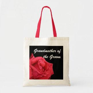 Elegant Red Rose Grandmother of the Groom Gift Bag