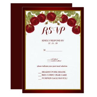 Elegant Red Rose Response Card