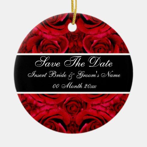 Elegant Red Rose Save The Date Wedding Invitations
