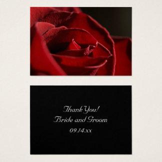 Elegant Red Rose Thank You Wedding Favor Tags