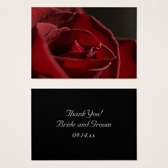 Elegant Red Rose Thank You Wedding Favor Tags