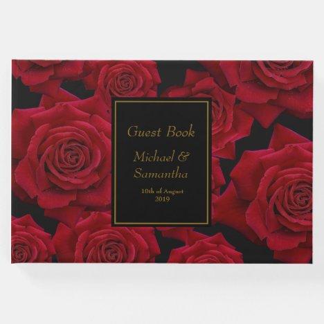 Elegant Red Rose - Wedding Guest Book