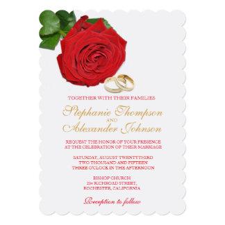 Elegant Red Rose Wedding Invitation