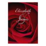 "Elegant Red Rose Wedding Invitations 4.5"" X 6.25"" Invitation Card"