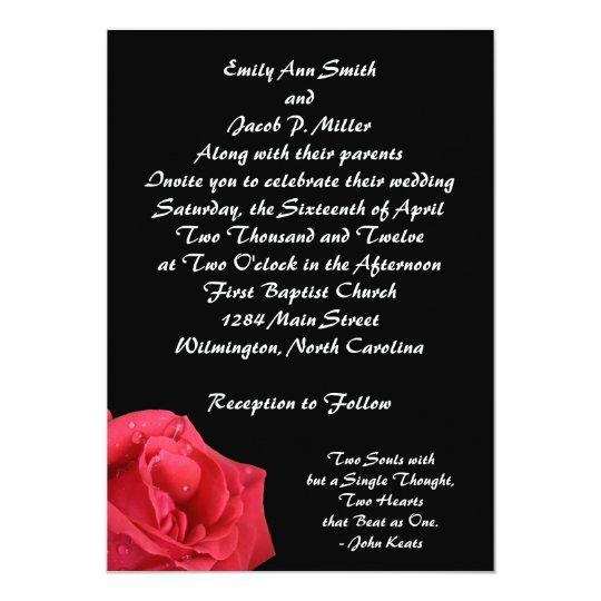 Elegant Red Rose Wedding Invitations