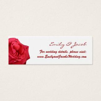 Elegant Red Rose Wedding Website Insert Cards