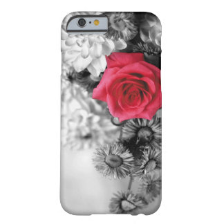 Elegant Red Rose with Black & White background iPhone 6 Case