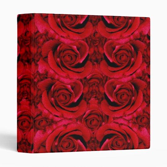 Elegant red roses binders - customize wording