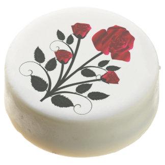 Elegant Red Roses Goth Art Chocolate Covered Oreo
